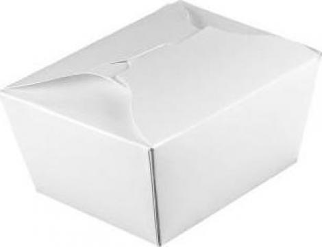 Cutie mare carton alb mancare chinezeasca de la Cristian Food Industry Srl.