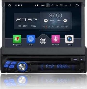 Sistem navigatie 1din cu sistem android si ecran retractabil