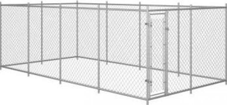 Padoc pentru caini de exterior, 8 x 4 x 2 m de la Vidaxl