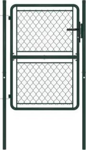 Poarta de gard, verde, 100 x 125 cm, otel