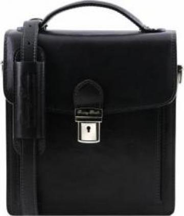Borseta din piele naturala Tuscany Leather neagra de la Omninova