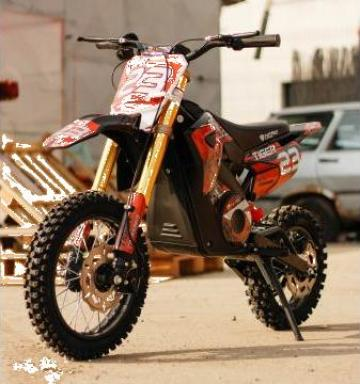 Jucarie Motocicleta electrica Eco Tiger 1300W 14/12 48V #RED