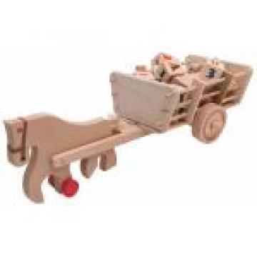 Jucarie educativa Caruta cu cal si litere din lemn de la Ady Comprod Srl