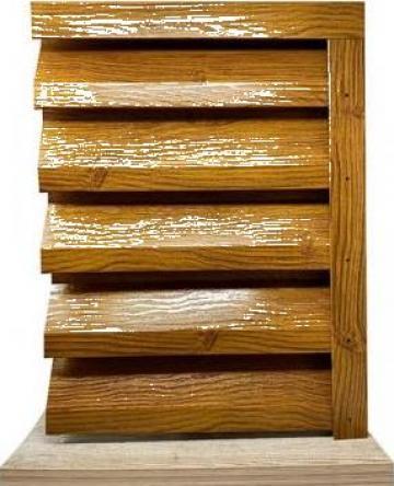 Gard metalic - jaluzele Atlas 2000x1045 imitatie lemn 0.4 de la Vindem-ieftin.ro