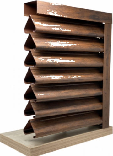 Gard - jaluzele Piramida 2000x1165 mm imitatie lemn mahon de la Vindem-ieftin.ro