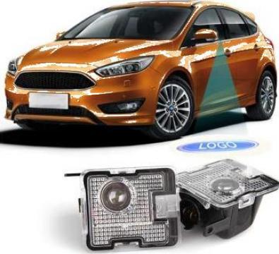 Lampi dedicate oglinzi laterale cu logo Ford pentru Focus de la Caraudiomarket.ro - Accesorii Auto Dedicate