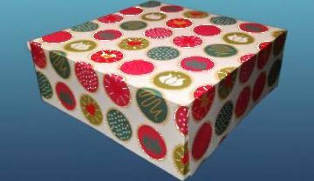 Cutie color prajituri 18x18x8cm 25 buc/set de la Cristian Food Industry Srl.