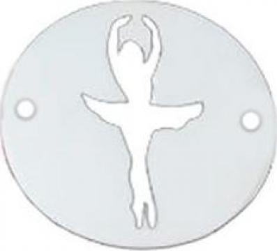 Bratara Balerina, pandantiv Argint 925, silueta decupata
