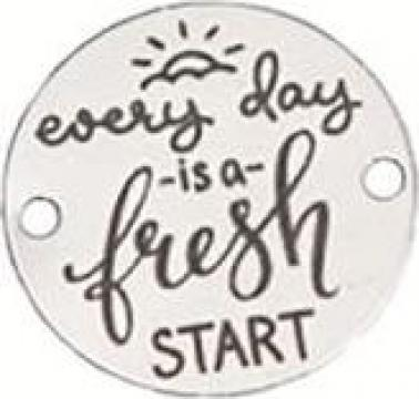 Bratara Every Day is a Fresh Start, pandantiv Ag 925