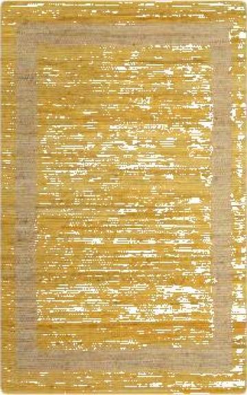 Covor manual, galben, 120 x 180 cm, iuta de la Vidaxl