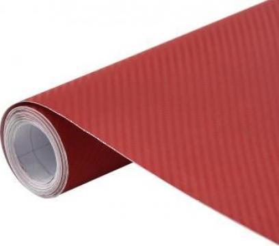 Folie auto 3D rosu mat 200 x 152 cm