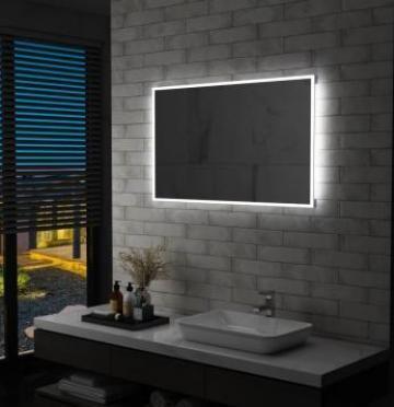 Oglinda cu LED pentru perete de baie, 100 x 60 cm