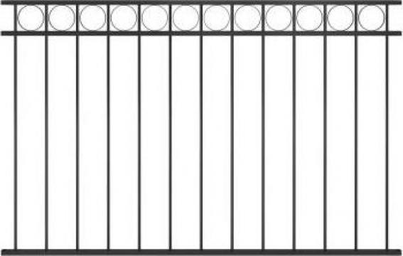 Panou de gard, negru, 1,7 x 1 m, otel de la Vidaxl