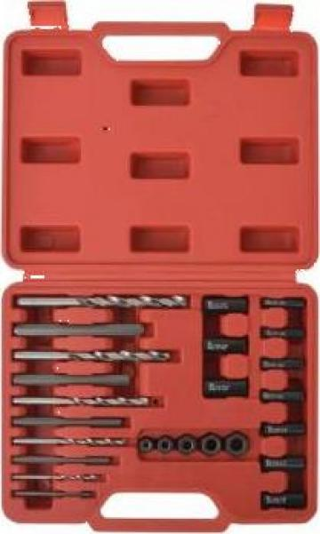 Set extractor suruburi, otel, 25 de piese de la Vidaxl