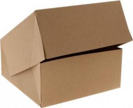 Cutie carton kraft natur prajituri 18x18x8cm,25 buc/set de la Cristian Food Industry Srl.