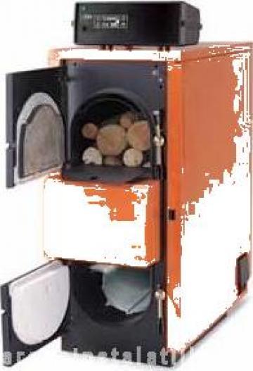 Cazan lemne cu gazeificare Fuego FU 90 R de la PFA Chivaru Corneliu