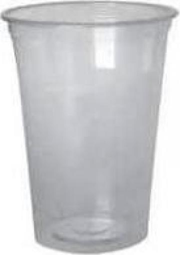 Pahare transparente plastic 500ml de la Cosept Srl