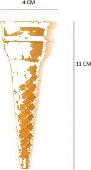 Cornet inghetata Ø4x11cm 1570 buc/bax