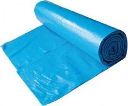 Saci menajeri LDPE 120 litri, 10 buc/rola, albastru de la Cristian Food Industry Srl.