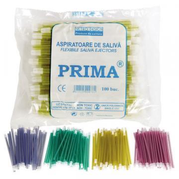 Aspirator saliva 15cm, rosu, albastru, galben, verde