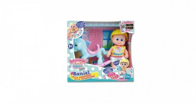 Jucarie Baniel Baby pe calut balansoar Bouncing Babies de la Pepita.ro
