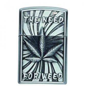 Bricheta - zippo, 3D relief, metalica, the need for weed de la Dali Mag Online Srl