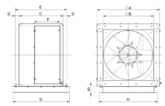Ventilator 4 poli CHGT4-800-3/-1,1