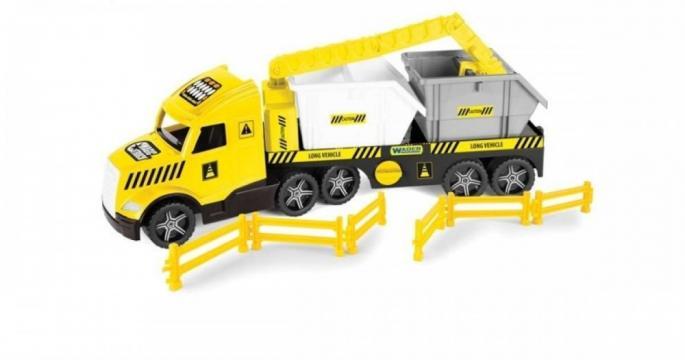 Jucarie recipient Wader Magic Truck Technic cu containere