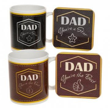 Cana si suport Dad, you are a star and Dad, you are the best de la Krbaby.ro - Cadouri Bebelusi