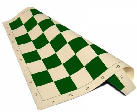 Set sah Combo: piese Staunton 6 + tabla vinil verde + geanta de la Chess Events Srl