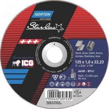 Disc taiere Norton Starline 125x1,6mm de la ICG Center