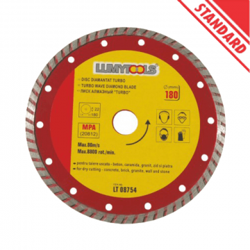 Disc diamantat turbo debitat beton LT08751 de la Altdepozit Srl
