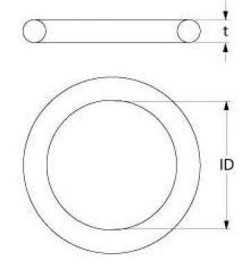Garnitura silicon grosime 3mm, intern 47,5mm