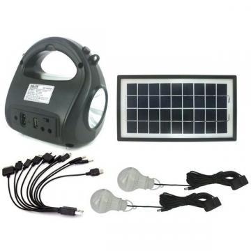 Kit sistem solar cu stick USB si card de memorie Gdlite