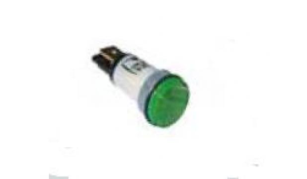 Lampa de semnalizare rotunda, 12mm, 24V, verde 359023