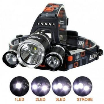 Lanterna frontala cu 3 LED-uri Cree XML-T6 si acumulatori de la Startreduceri Exclusive Online Srl - Magazin Online - Cadour