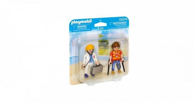 Figurine jucarie Medic si pacient Playmobil 70079