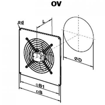 Ventilator axial OV 6D 800
