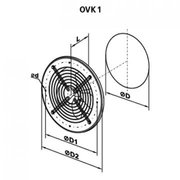 Ventilator axial OVK 4E 450