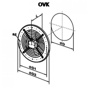 Ventilator axial OVK 4E 550