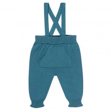 Pantaloni cu bretele din bumbac organic 100% de la Qualitrainer Srl