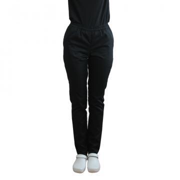 Pantaloni medicali negri cu elastic si doua buzunare lateral de la Doctor In Uniforma SRL