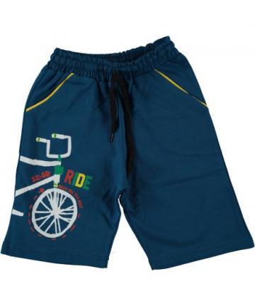 Pantaloni scurti baieti Bike, bumbac, albastru de la A&P Collections Online Srl-d