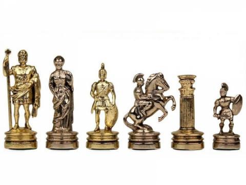 Piese sah din metal - Grecii si Romanii - Mediu de la Chess Events Srl