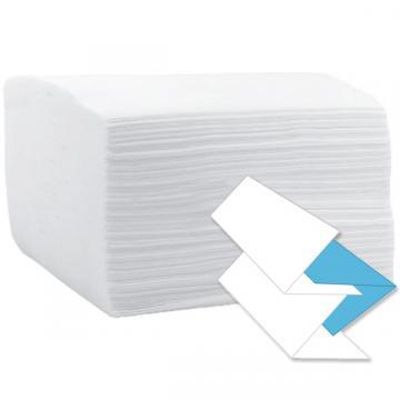 Prosop hartie V 21x23cm, 2 straturi, 100% celuloza, alb de la Sirius Distribution Srl