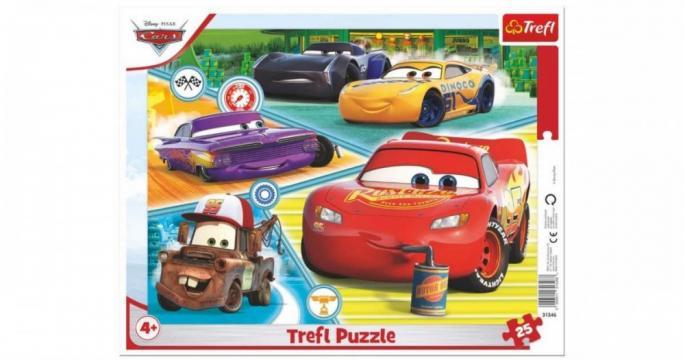 Puzzle cu rama Trefl Cars 3. Echipa buna 25 bucati