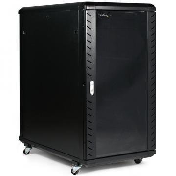 Rack cabinet de podea  24U, D:600x1000x1256 mm, 80 kg, negru