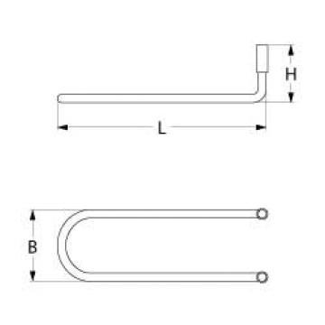 Rezistenta defrost (degivrare) 55W, 220V