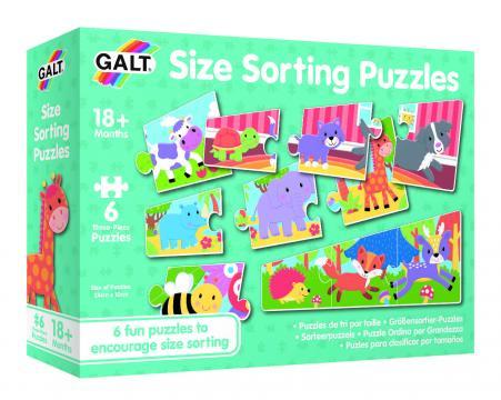 Set 6 puzzle - Animalute jucause (3 piese)