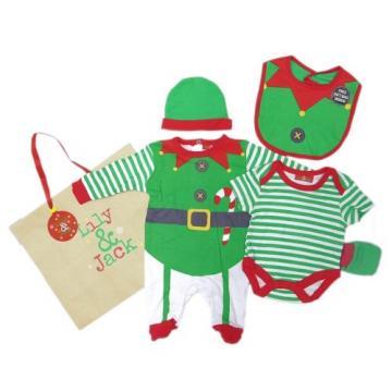 Set cadou hainute Craciun 5 piese si punga cadou - Elf